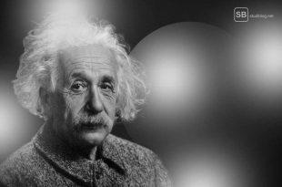 Physikprofessor und Angstblasen - Portrait von Albert Einstein