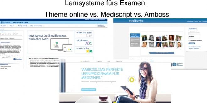Der Amboss Test - Lernsysteme im Verglleich. Screenshot einer Benutzeroberfläche.