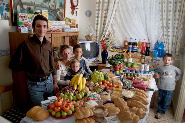 Essen für eine Woche - Italien