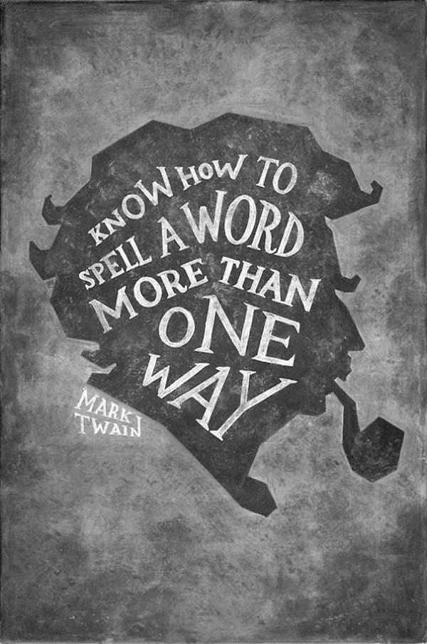 Kunstwerke auf Tafeln - Mark Twain