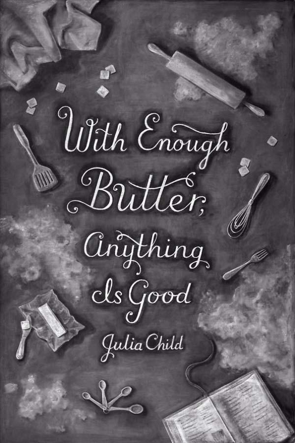 Kunstwerke auf Tafeln - Julia Child