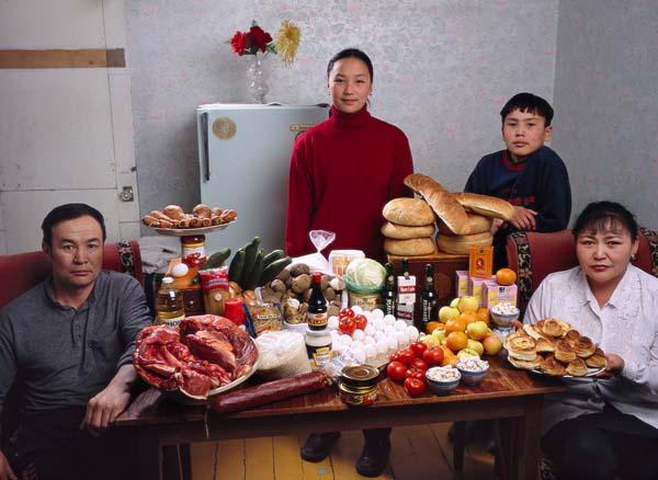 Essen für eine Woche - Mongolei