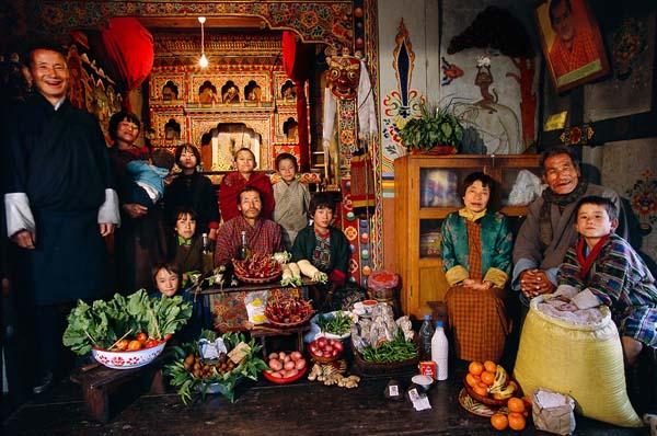Essen für eine Woche - Bhutan