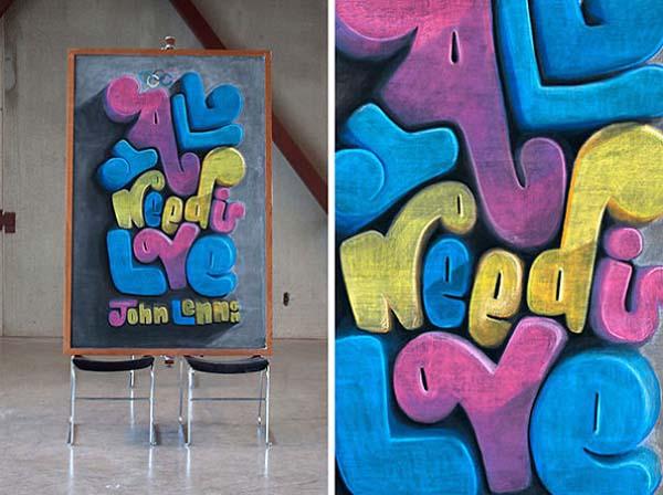 Kunstwerke auf Tafeln - John Lennon 2