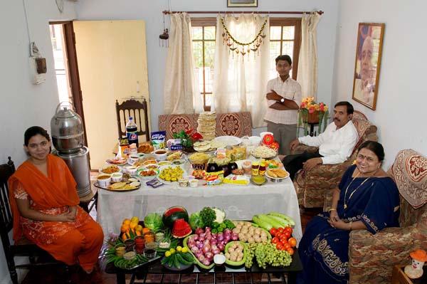 Essen für eine Woche - Indien