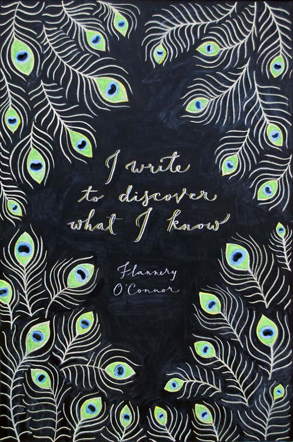 Kunstwerke auf Tafeln - Flannery O'Connor