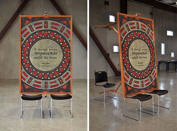 Kunstwerke auf Tafeln - Nelson Mandela 2