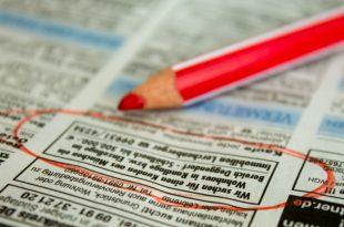 Wohnungsanzeigen: Zeitung
