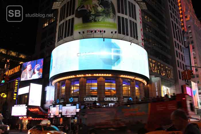 New York Timesquare bei Nacht
