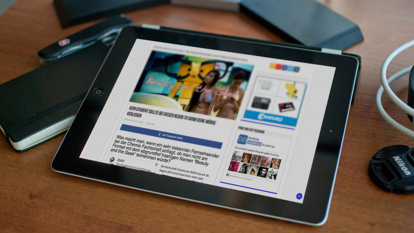Das Tablet oder Ipad im Studium verwenden.