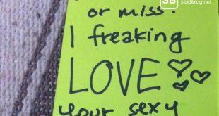 Eine romantische Notiz auf einem Auto