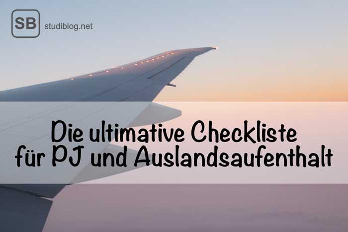 Checkliste für PJ und Famulatur im Ausland