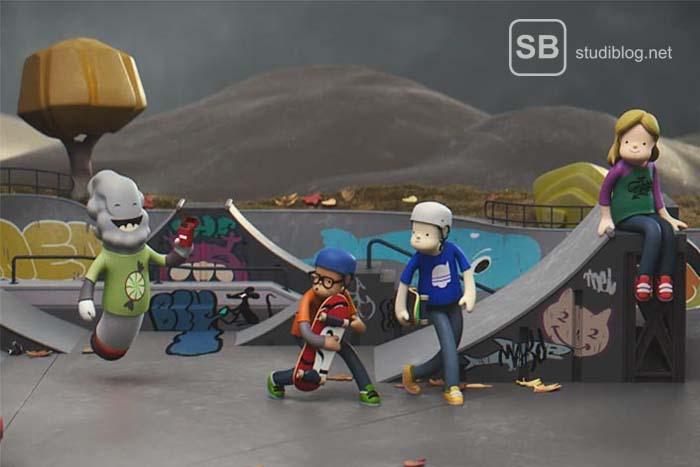 Screenshot vom Animationsfilm gegen Rauchen