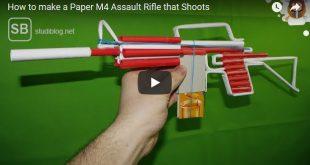 Maschinengewehr basteln aus einem Collegeblock im Hörsaal - Vorschaubild zum Video