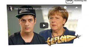 Screenshot vom Video: Youtuber interviewt Angela Merkel