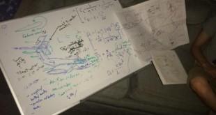 Beitragsbild mit einem Plan für einen Ekranoplan, einem Wasserflugzeug - entworfen von einem besoffenen Maschinenbaustudenten mitten in der Nacht