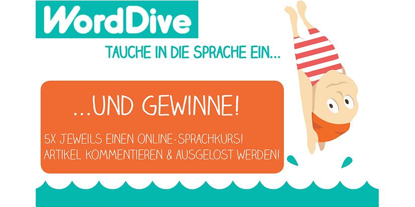 Worddive Gewinnspiel Online-Sprachkurse