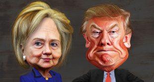 Hillary Clinton versus Donald Trump