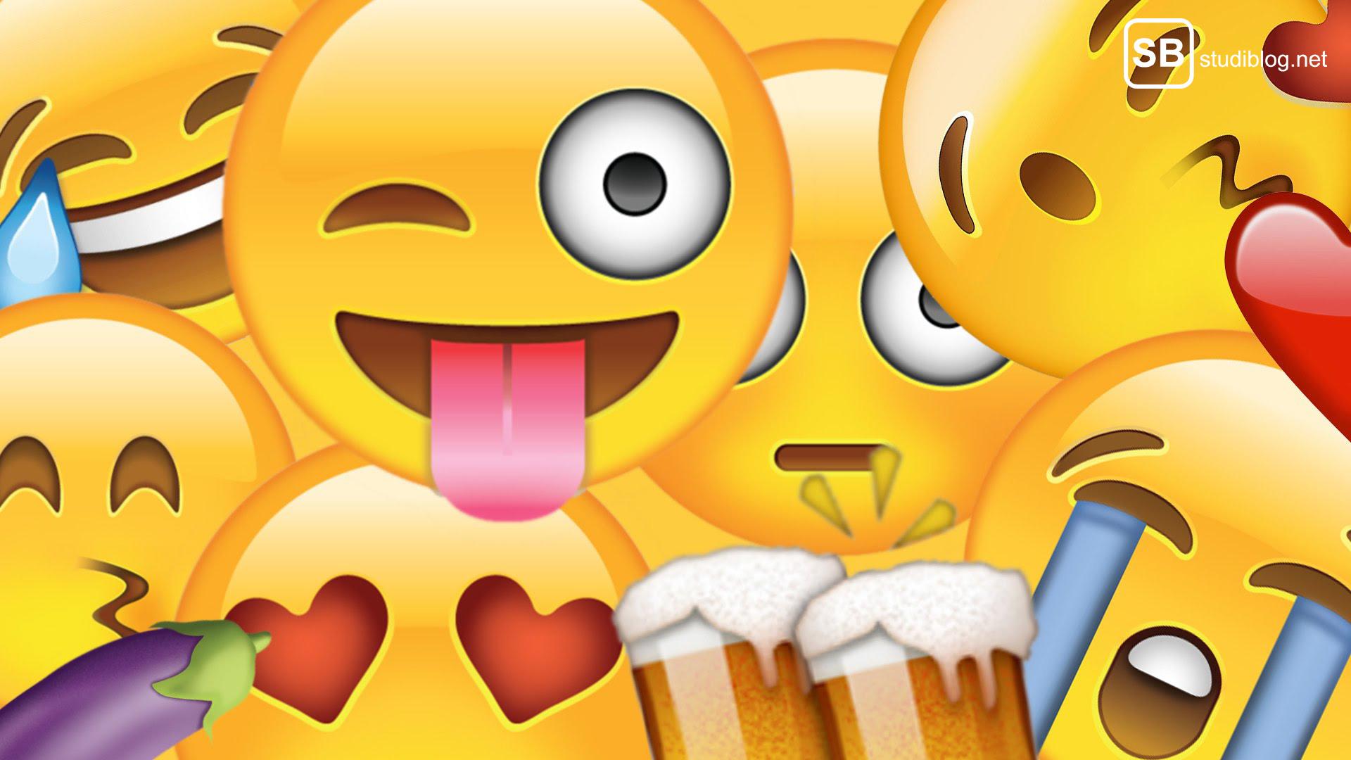 Verschiedene Standard Emojis.
