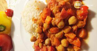 Bild zum Rezept eines Kichererbsen Eintopfes mit Reis auf studiblog