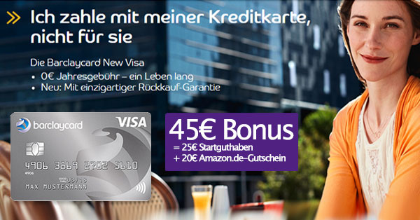 New Visa Bonus-Deal Artikelbild zur neuen Barclaycard Kreditkarte