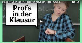 Titel zum Video von Überuni über die sieben nervigsten Professoren die man in einer Klausuraufsicht haben kann