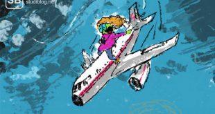 Autorin reitet auf ihrem Flugzeug das beinahe abgestürzt wäre - Reisebericht