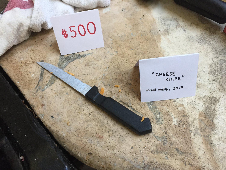 Passiv-aggressive Kunst: Käsemesser