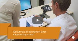 Beitragsbild zum Video der Rechtsberatung durch den Marburger Bund zum Thema Arbeitsvertrag für PJler und Berufseinsteiger