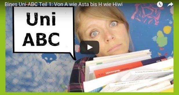 Beitragsbild zum Video Studenten ABC von Bine von Überuni