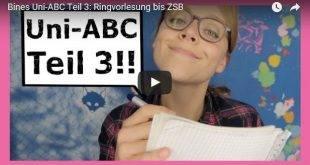Beitragsbild zum Video von Überuni - Uni ABC Teil 3