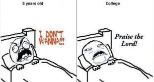 Schlafenszeit als 5 Jähriger im Vergleich zu einem Studenten