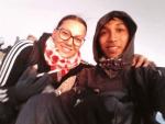 Mein Freund Ronni begleitet mich beim Erklimmen des Rinjani