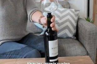 Bild mit Glas als Schraubaufsatz für eine Weinflasche