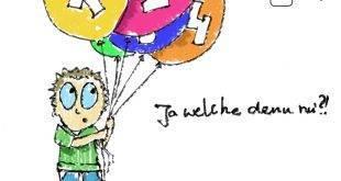 Beitragsbild zur Wahl der Fernhochschule - Student mit Luftballons, beschriftet mit 1, 2, 3, 4, steht vor der Frage, ja welche denn nun?