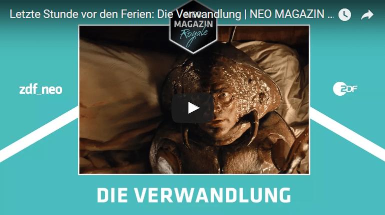 Letzte Stunde vor den Ferien: Die Verwandlung: Interpretation/Adaption von Jan Böhmermann - Neo Magazin Royal