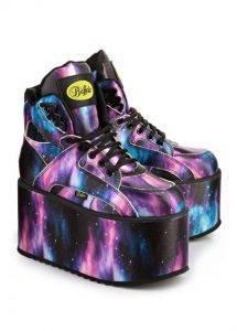 90er Trend heute: Buffalo Plateau Sneaker mit Galaxis