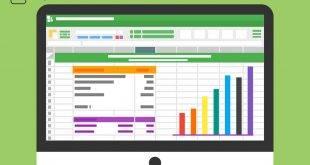 Excel-Diagramm auf einem Bildschirm - Für die Bachelorarbeit unter anderem mit Excel arbeiten.