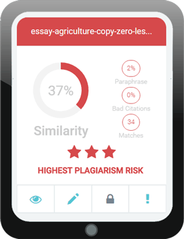 Screenshot der Ergebnisse einer Plagiatsprüfung mit noplagiat.de.