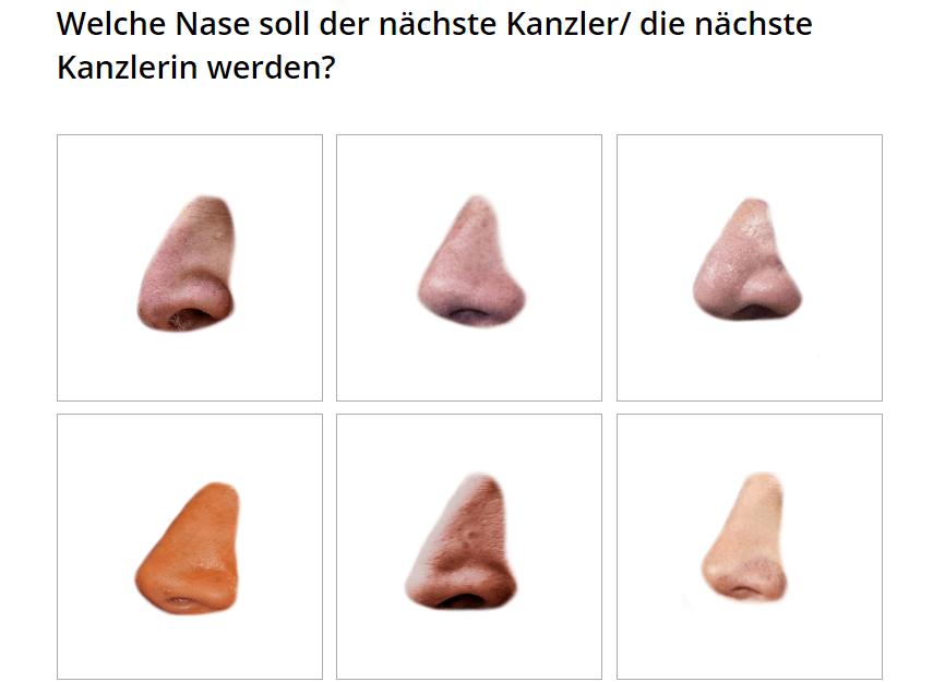 Bundestagswahl 2017: Geil-O-Mat: Welche Nase soll der nächste Kanzler / die nächste Kanzlerin werden?