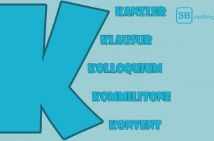 Kanzler, Klausur, Kolloquium, Kommilitone, Konvent