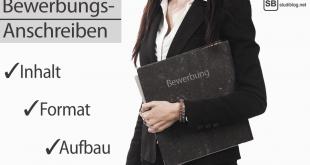 Frau hält Ordner in der Hand. Schriftzug: Bewerbungs-Anschreiben Inhalt, Format, Aufbau