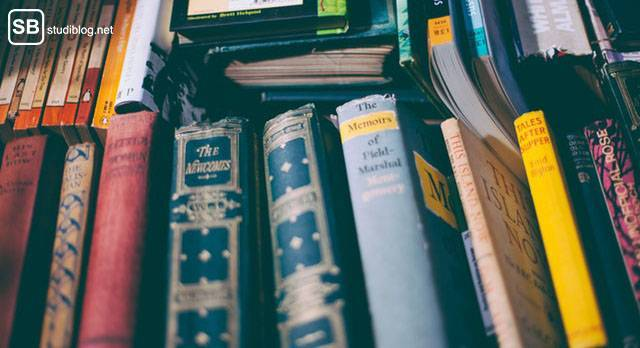 Zeitplan bei Bachelor- oder Masterarbeit: Literatur finden: viele bunte Bücher