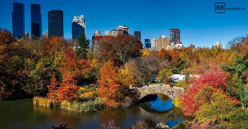 Städte-Trip Top 3: Amerika, New York: Central Park bei Herbst