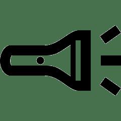 lesen lernen - icon assoziation in form einer taschenlampe