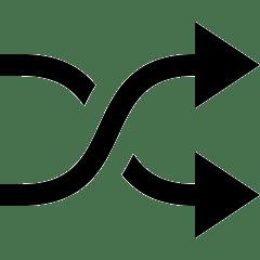 lesen lernen icon - verschlungene pfeile für ausblick, vision