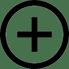 lesn lernen - icon these in form eines pluszeichens in einem kreis