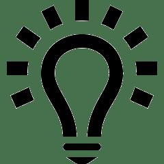 lesen lernen - icon glühbirne