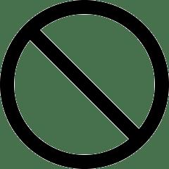 lesen lernen - icon verbot, durchgestrichener kreis