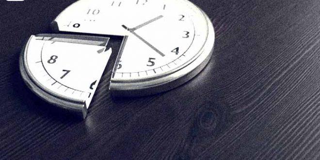 Zeitmanagement Methoden - Bild mit Uhr aus der ein viertel heraus geschnitten wurde